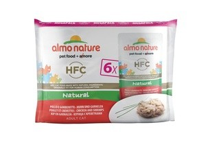 Almo Nature Набор 6 шт.по 55г ПАУЧИ для Кошек с Курицей и Креветками (Multipack Classic Chicken and Shrimps) 5852